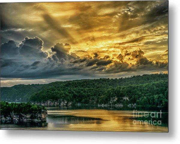 Summersville Lake Sunrise Metal Print
