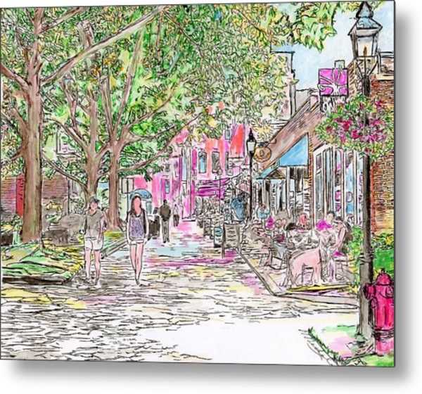 Summertime In Newburyport, Massachusetts Metal Print