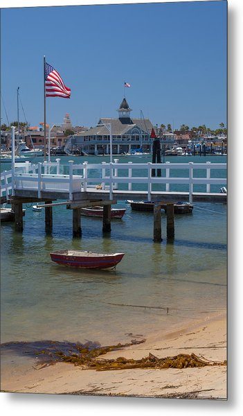 Summertime In  Newport Beach Harbor Metal Print