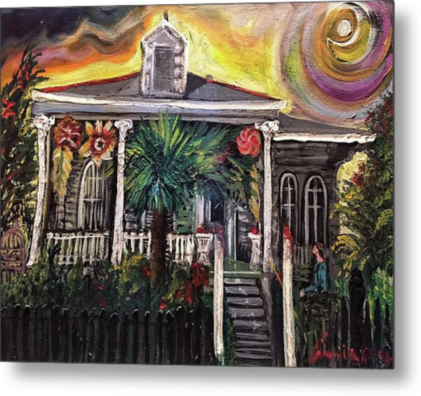 Metal Print featuring the painting Summertime New Orleans by Amzie Adams