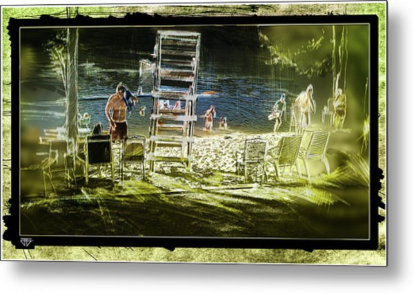 Summertime Water Polo Metal Print