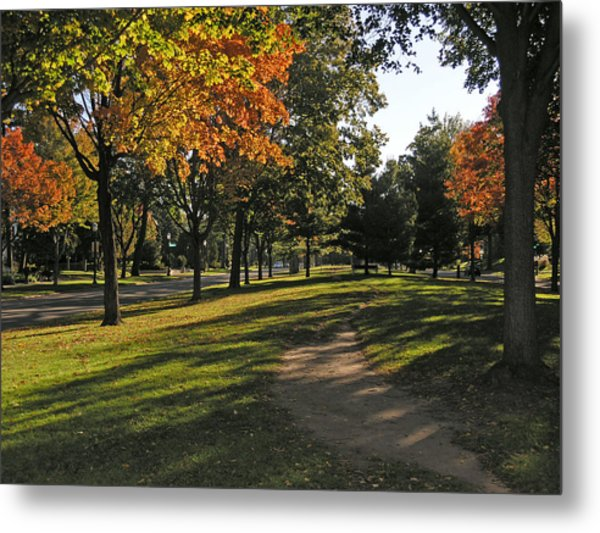 Summit Avenue In The Fall Metal Print by Janis Beauchamp