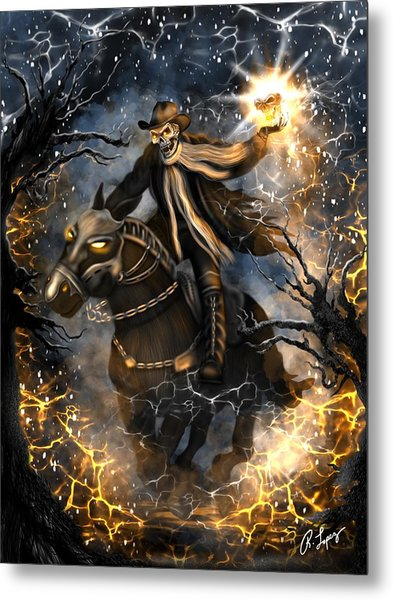 Summoned Skull Fantasy Art Metal Print