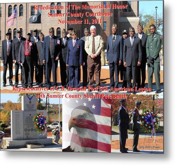 Sumter County Memorial Of Honor Metal Print