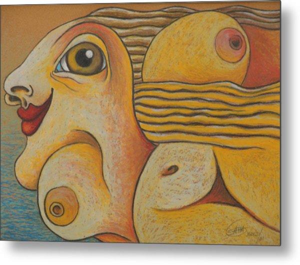 Sun  2001 Metal Print by S A C H A -  Circulism Technique