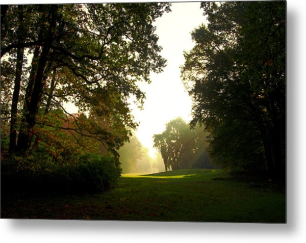 Sun Beams In The Distance Metal Print