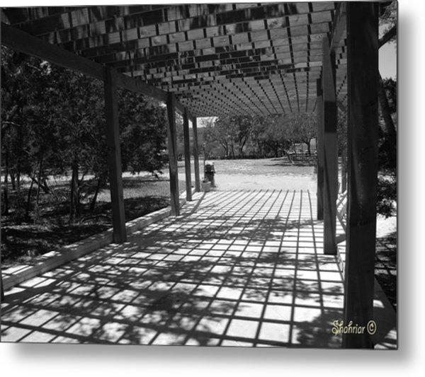 Sun Checkerboard  Metal Print