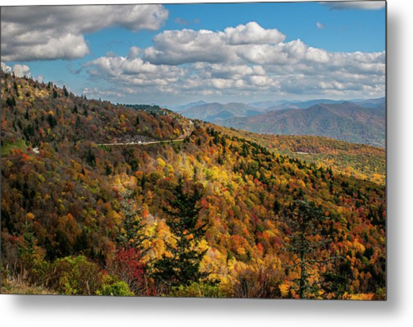 Sun Dappled Mountains Metal Print