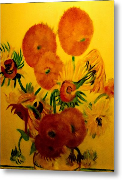 Sun Flowers Copy Metal Print