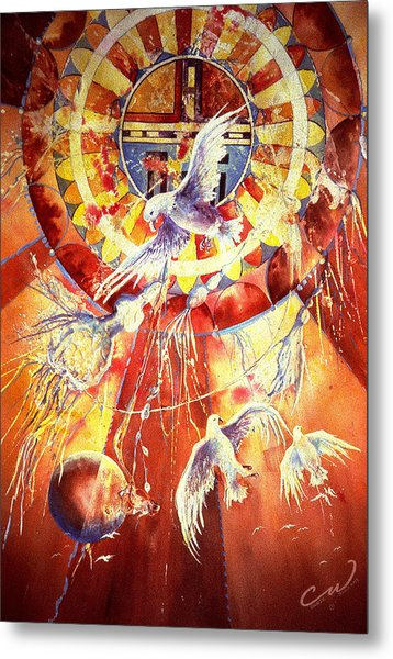 Sun God Metal Print by Connie Williams