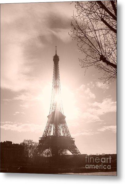 Sun In Paris Metal Print
