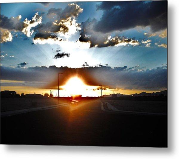 Sun-plosion... Metal Print by Paul Whitney
