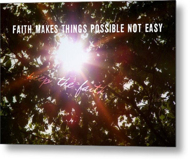 Sun Rays Quote Metal Print by JAMART Photography