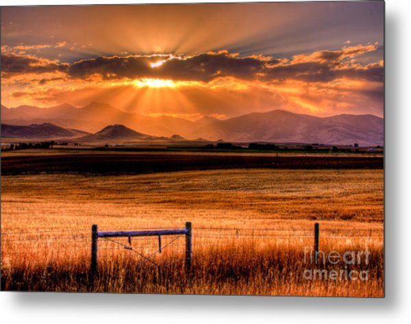 Sun Sets On Summer Metal Print