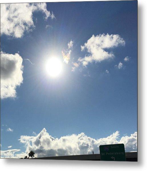 Sun Sky Angel Metal Print