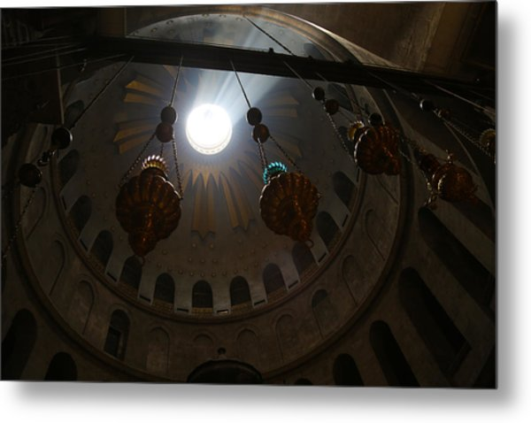 Sunbeams At The Church Of The Holy Sepulchre Metal Print by Heidi Pix