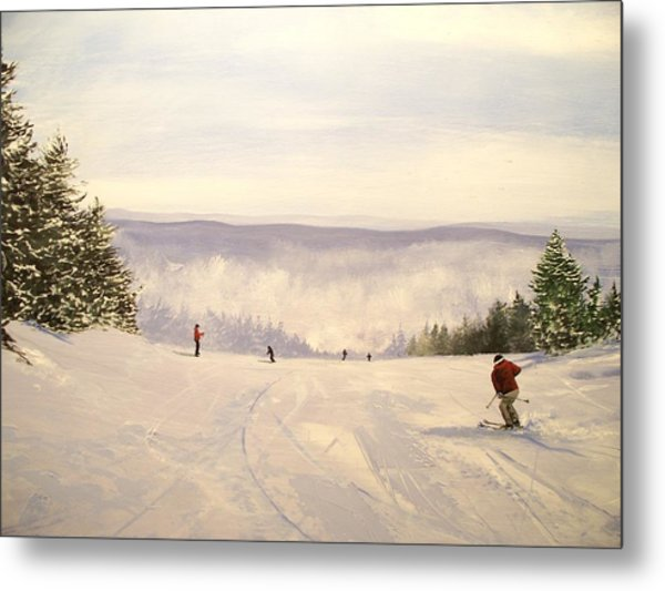 sunbowl at Stratton Mountain Vermont Metal Print by Ken Ahlering