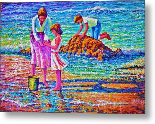 Sunday Afternoon Beach Study Metal Print