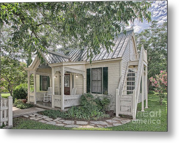 Sunday House Cottage Metal Print