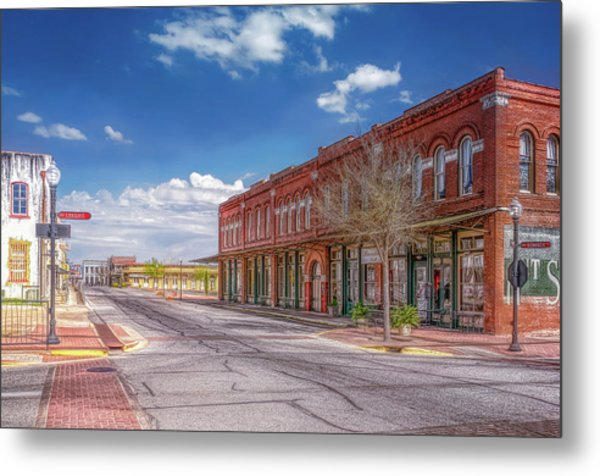 Sunday In Brenham, Texas Metal Print