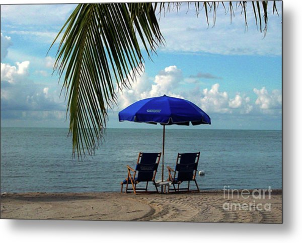 Sunday Morning At The Beach In Key West Metal Print