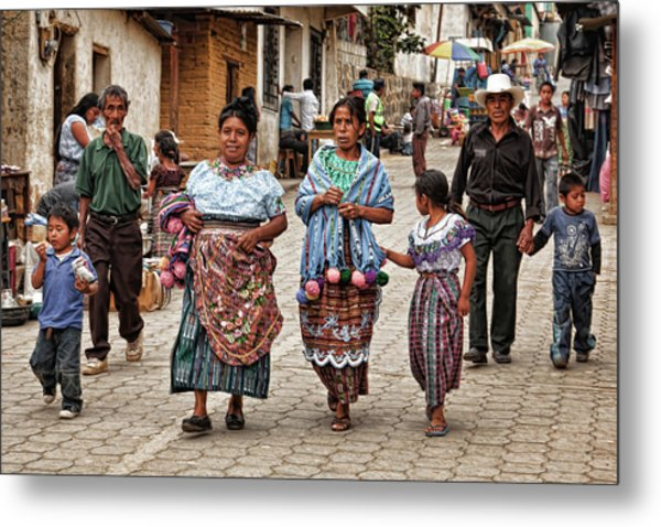 Sunday Morning In Guatemala Metal Print