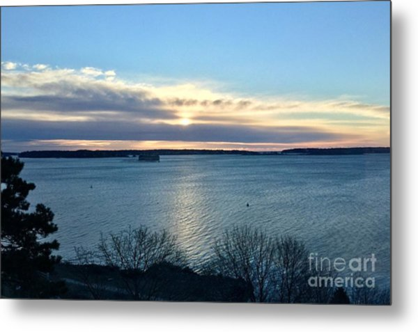 Sunday Sunrise On Casco Bay Metal Print