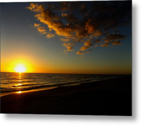 Sunday Sunset Redington Beach Metal Print