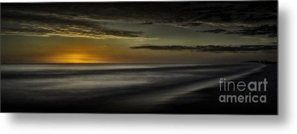 Sundown At Santa Rosa Beach Metal Print