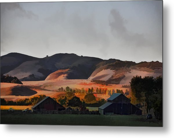 Sundown At The Ranch Metal Print by Patricia Stalter