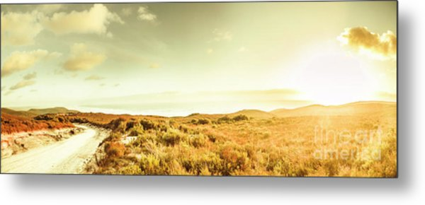 Sundown Bend Metal Print