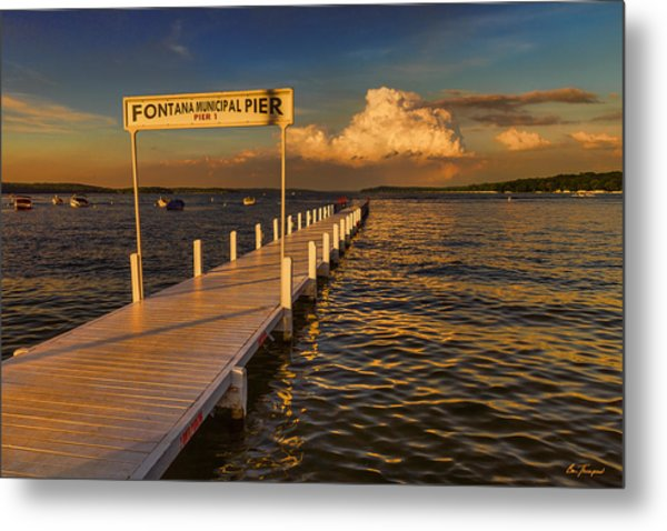 Sundown - Lake Geneva Wisconsin Metal Print