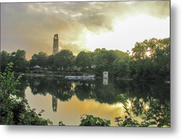 Sundown At The Riverwalk Quarry Metal Print