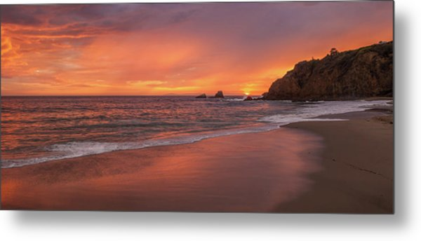 Sundown Over Crescent Beach Metal Print
