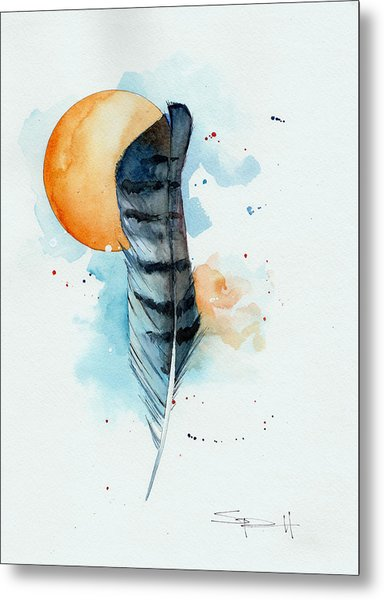 Sunfeather Metal Print