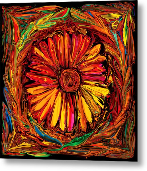 Sunflower Emblem Metal Print
