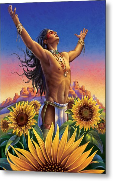 Sunflower - Glorious Success Metal Print