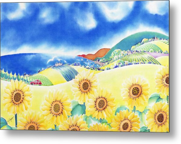 Sunflower Hills Metal Print