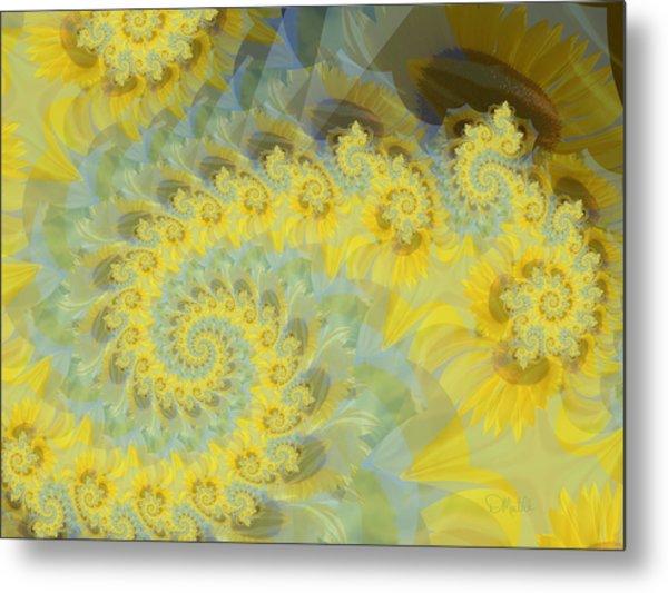 Sunflower Infused Metal Print