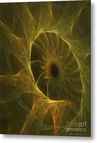 Sunflower Nebula Metal Print by Sandra Bauser Digital Art