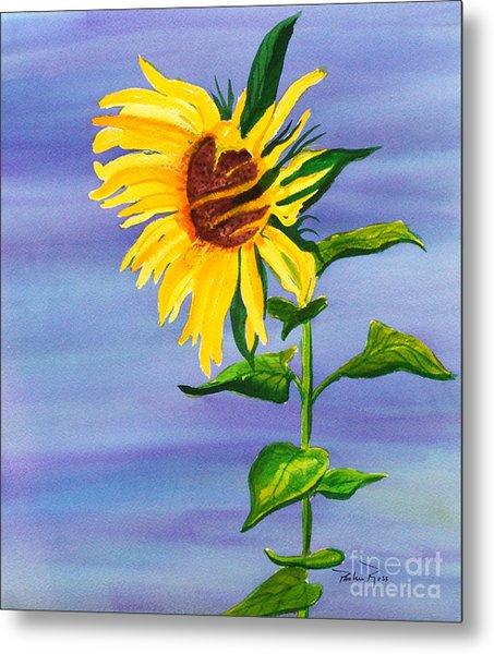 Sunflower Metal Print by Pauline Ross