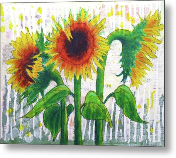 Sunflower Sonata Metal Print