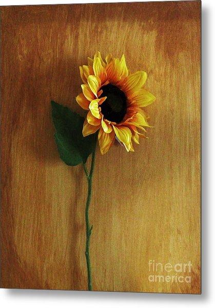 Sunflower Standing Metal Print by Marsha Heiken