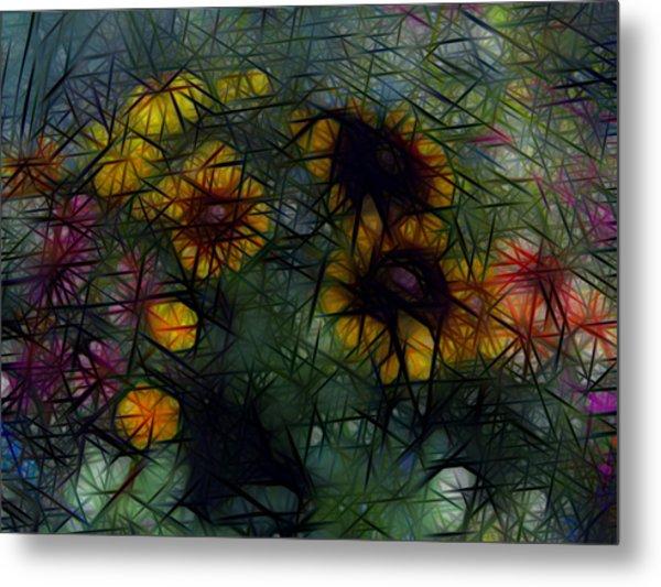 Sunflower Streaks Metal Print
