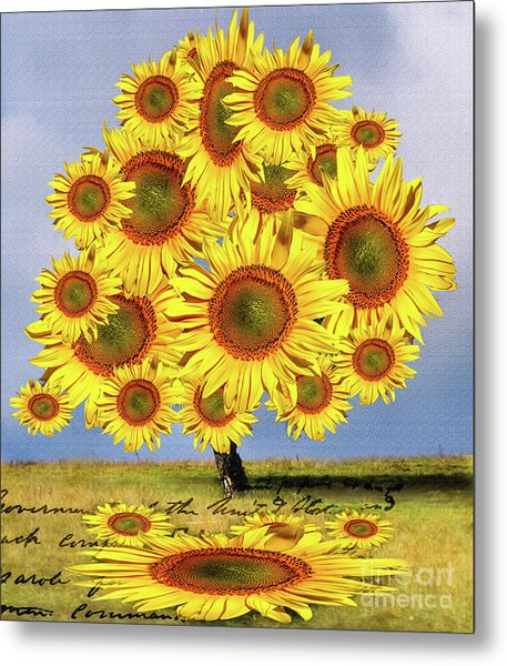 Sunflower Tree Metal Print