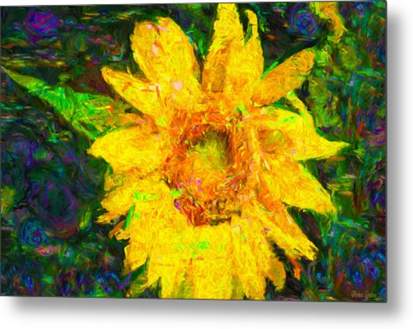 Sunflower Van Gogh Metal Print