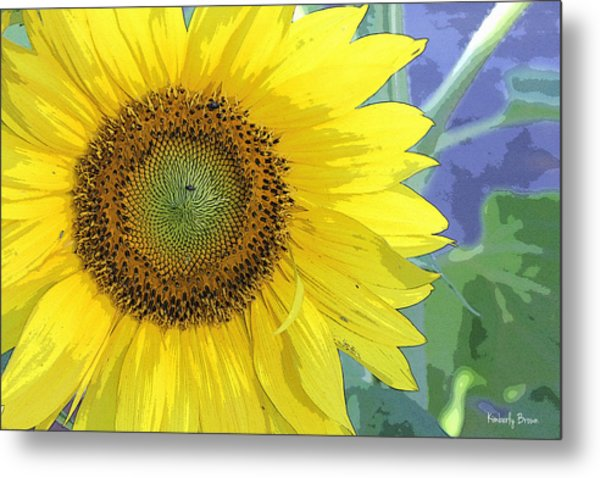 Sunflowers All Around Metal Print