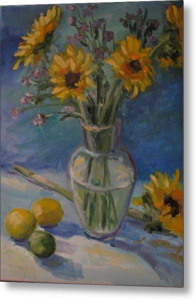 Sunflowers And Citrus Metal Print