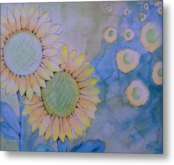 Sunflowers Metal Print by Donielle Boal