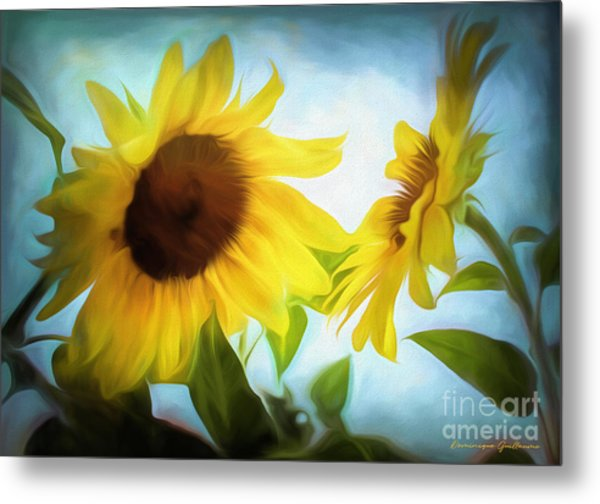 Sunflowers Duet Metal Print